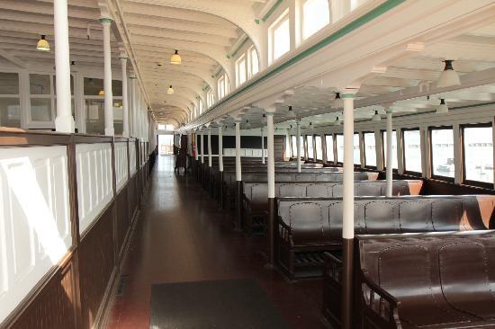 Historic Ferryboat Eureka: passenger seating area