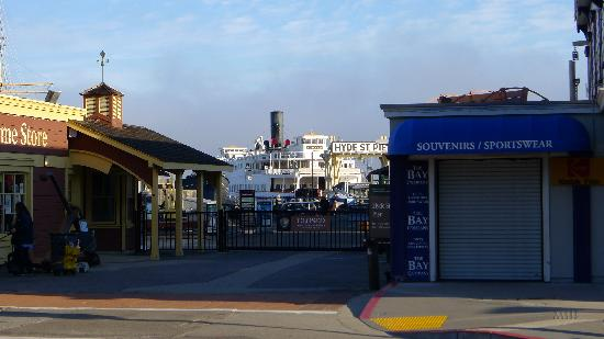 Historic Ferryboat Eureka: Eureka ferryboat at the Hyde Pier in San Fransisco
