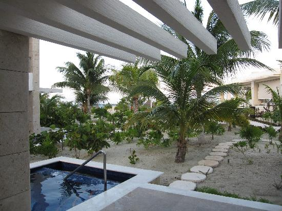 Beloved Playa Mujeres: View of Isla Grill from patio of Carinosa 1