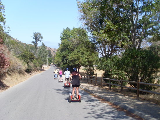Avalon, Kalifornien: riding the segway