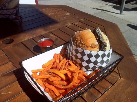 Nob Hill Grille Restaurant : black bean burger - huge