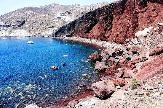 Ακρωτήρι, Ελλάδα: spiaggia rosso fuoco