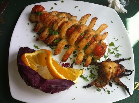 Trattoria Pizzeria Voscenza: calamaro gratinato al forno
