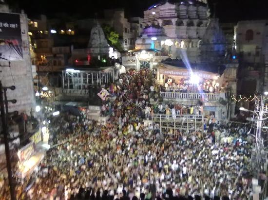 OYO Rooms Jagdish Chowk: janamshtmi festival from hotel baba palace udaipur