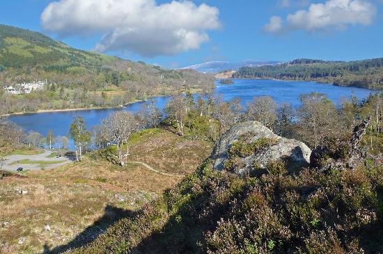 Aberfoyle, UK: View a sort walk from Hotel