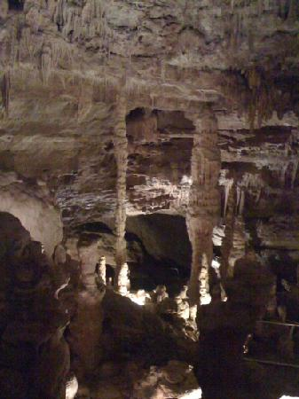 Natural Bridge Caverns: A view in the cavern.