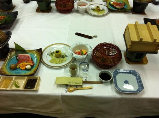 Seaside Hotel Mimatsu OOETEI : dinner on private dining room