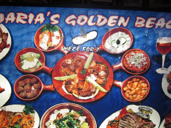 Maria's Golden Beach Tavern Restaurant : the meze for 2 which was superb...you have to try it!