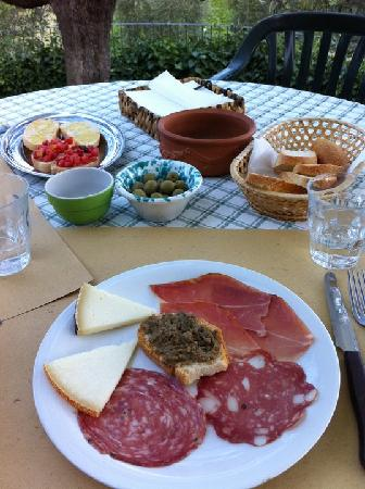 Guardastelle Vineyard: Second course of our lunch.