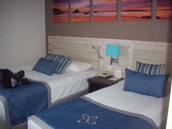 Papillon Belvil Hotel: vu des lit