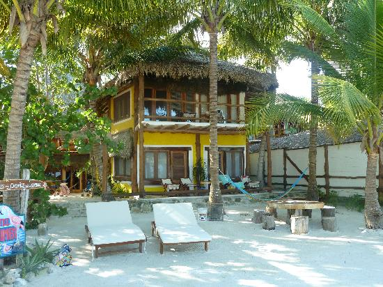 Holbox Hotel Mawimbi: View of our room from the beach