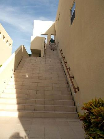 The Phoenix Resort: The stairs up to the 3rd floor