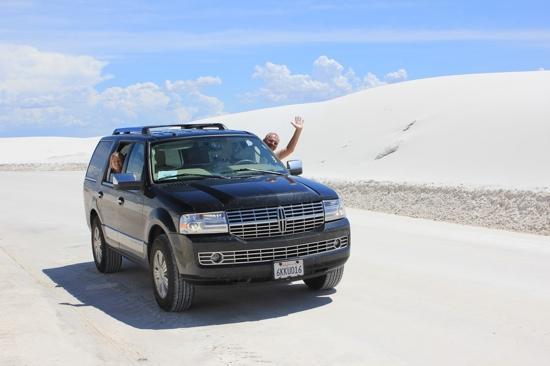 White Sands National Monument: Weißer Sand