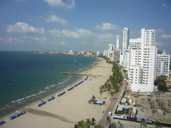 Hotel Cartagena Plaza : Desde la habitacion hacia la playa