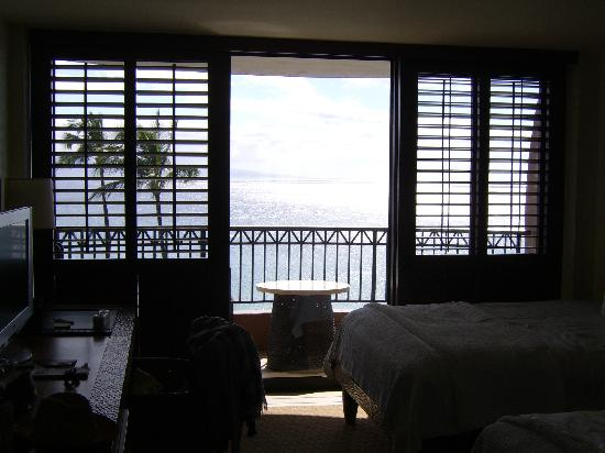 Royal Lahaina Resort: Balcone camera Ocean front view