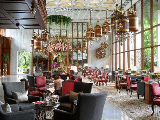 Mandarin Oriental, Bangkok: le hall d'entrée majestuex