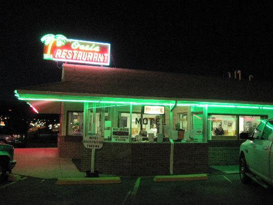 Oasis Restaurant : That much neon must mean good food, right?
