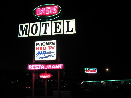 Oasis Restaurant : The Oasis: It's a restaurant AND an old fashioned motor lodge.