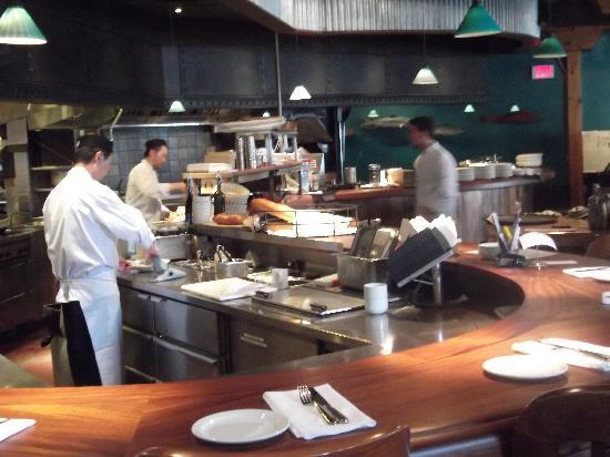 offene Küche - Picture of The Sandbar Seafood Restaurant ...