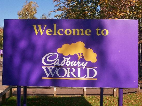 Cadbury World: Entrance sign