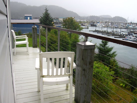 Cordova, AK: our deck and chair
