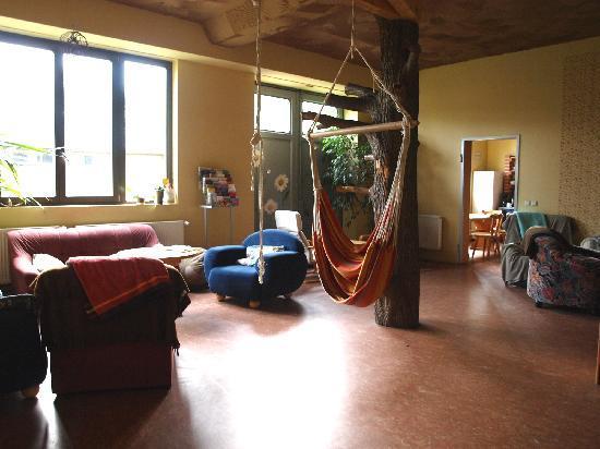 Kangaroo-Stop Hostel: Lounge and Kitchen