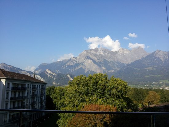 Grand Hotel Hof Ragaz: The view