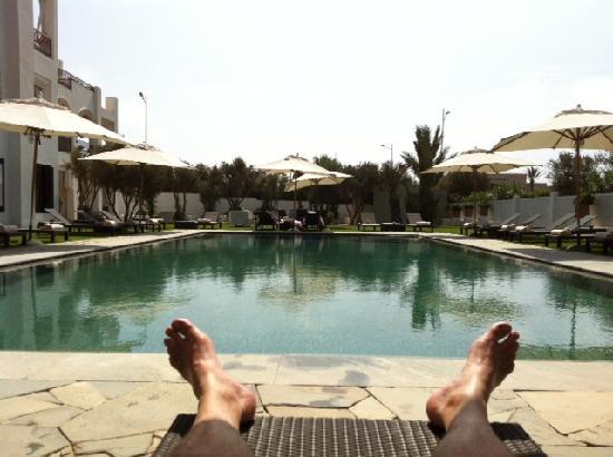 Riad Villa Blanche : Piscine