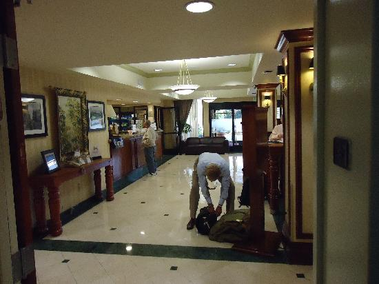 Hampton Inn San Francisco-Airport: The lobby and concierge