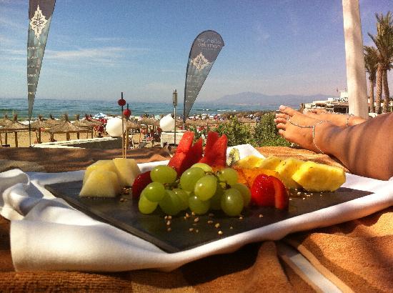 Estrella del Mar Beach Club: Bandeja de Frutas