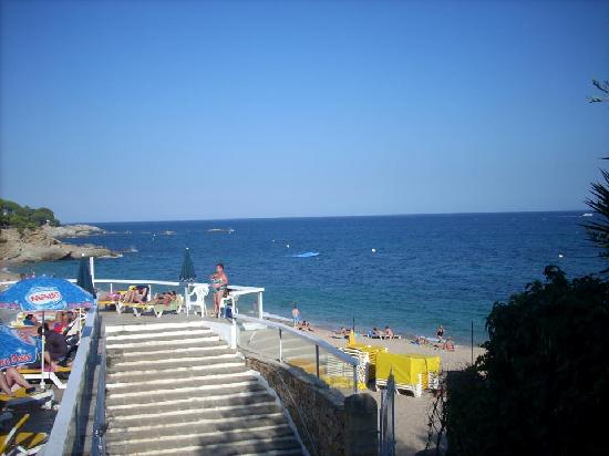 H·TOP Caleta Palace: Beach from hotel pool