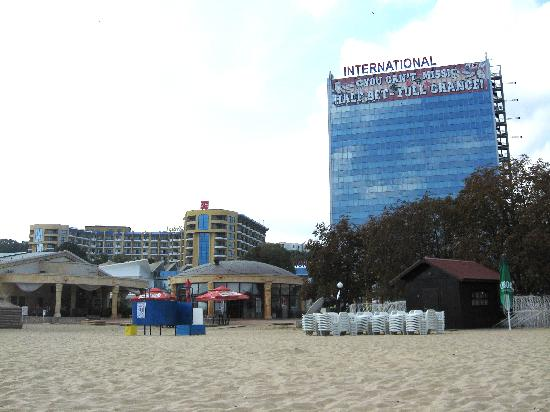 INTERNATIONAL Hotel Casino & Tower Suites: View of hotel from beach