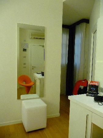 Hotel Coppe: Rechts geht es ins Bad
