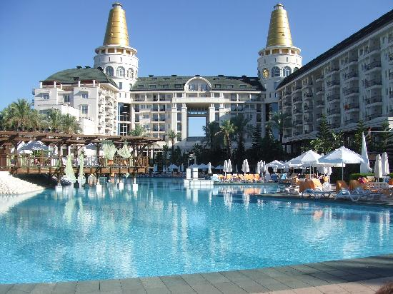 View of hotel from pool picture of delphin diva premiere antalya tripadvisor - Delphin diva hotel ...