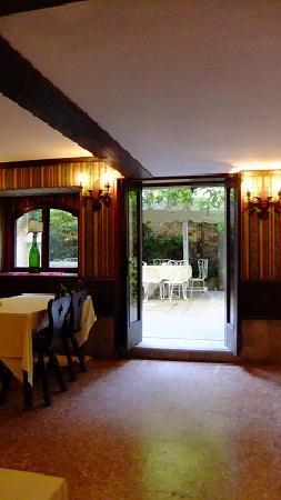 Hotel Al Sole: 朝食は中庭でもOK、でも私はここからの眺めが気に入りました