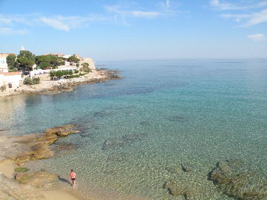 Hotel Beau Rivage: vista spiaggia dal terrazzo