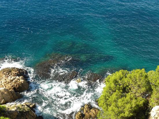 Tossa de Mar, España: vue depuis les ruines du chateau