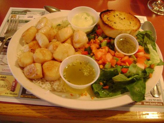 Restaurant du Quai: delicious and big scallops