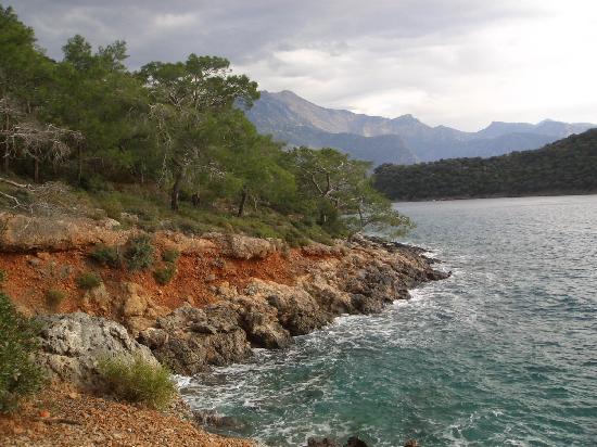 Hisaronu, ตุรกี: kleine Bucht hinter Fethiye