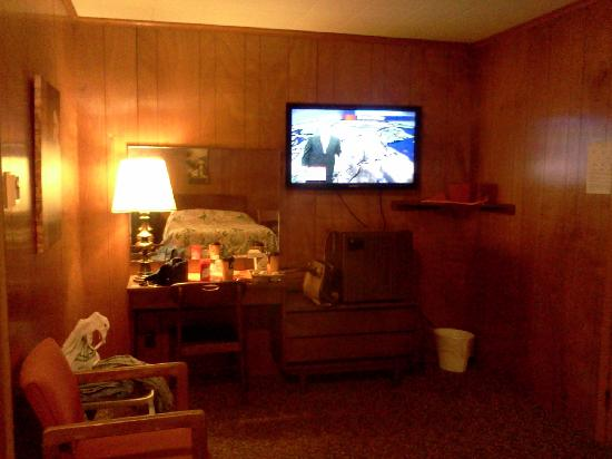 Shore Meadows Motel: Desk and TV