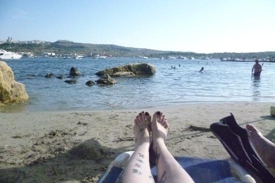 Mellieha Bay Hotel: Ausblick von Strand