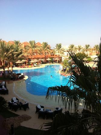 Nubian Island Hotel: view from lobby bar