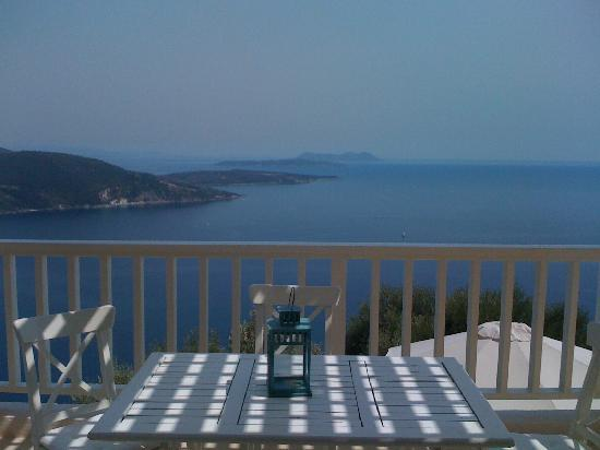 Urania Luxury Villas: the view from the balcony, villa Fos