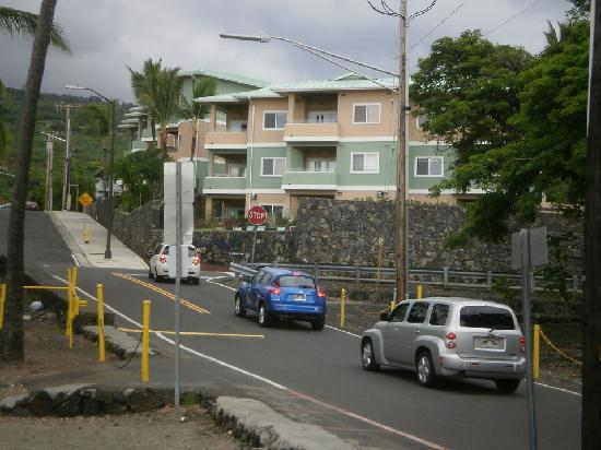 The Beach Villas at Kahalu'u: from the outside of the complex
