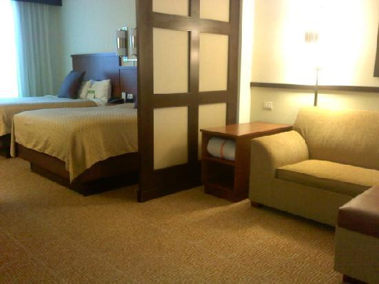 Holiday Inn Express & Suites Jacksonville Airport: Beautiful suite with living area and double beds.