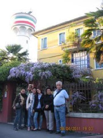 In front of Antica Villa Graziella