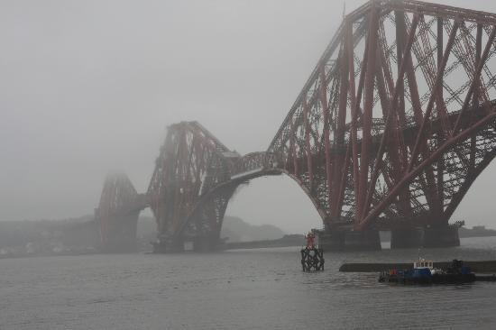 The Hairy Coo - Free Scottish Highlands Tour: Forth Bridge in the mist