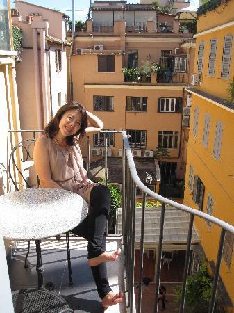 Condotti Palace: Balcony of my room