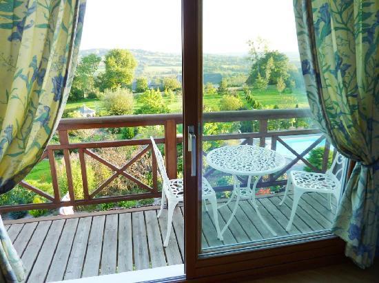 """L'Abri-Cotier : La chambre """"Elise"""" avec sa vue et son balcon"""