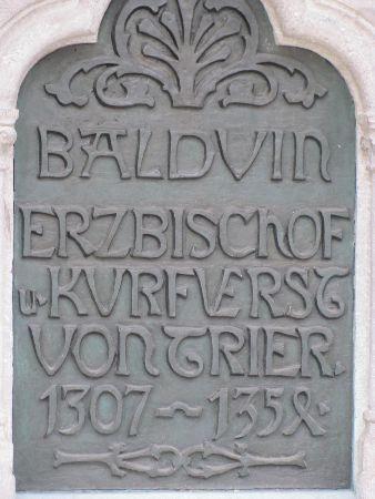 Baldwin s Fountain: plaque